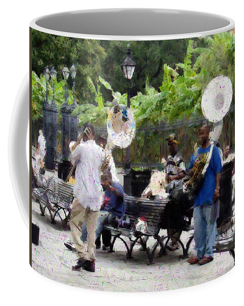 Band Coffee Mug featuring the photograph Jackson Square Sound by Scott Crump