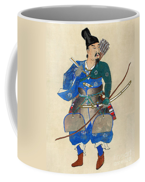 19th Century Coffee Mug featuring the photograph Japan: Archery by Granger
