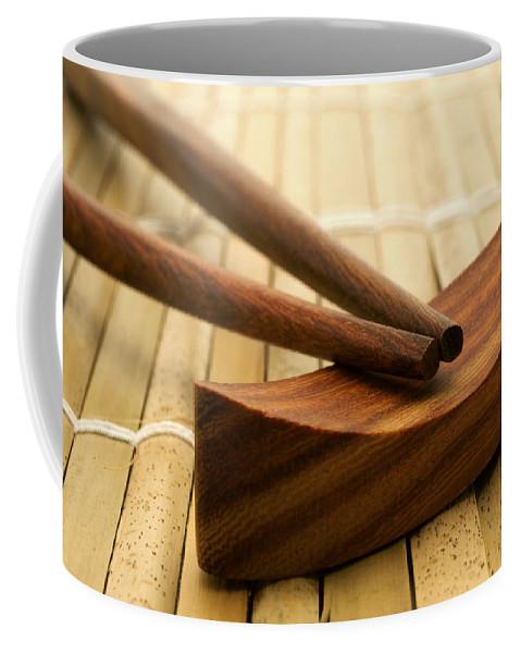 Macro Coffee Mug featuring the photograph Japanese Chopsticks by Fabrizio Troiani