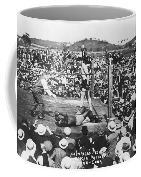1915 Coffee Mug featuring the photograph Jess Willard (1883-1968) by Granger