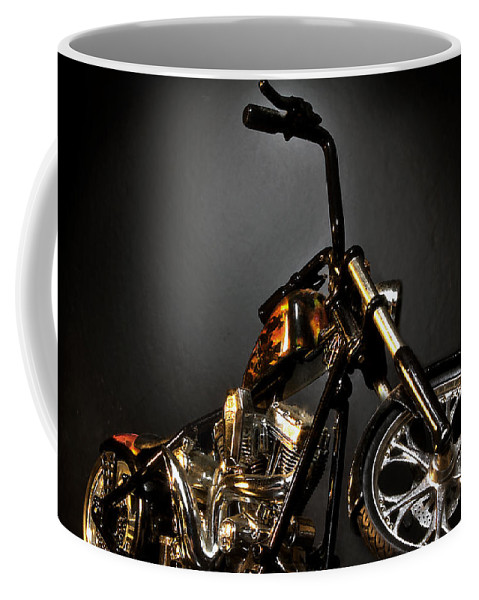 Coffee Mug featuring the photograph Jesse James Bike 2 Detroit Mi by Nicholas Grunas