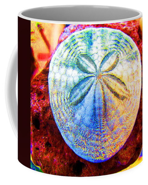 Sand Dollar Coffee Mug featuring the photograph Jeweled Sand Dollar by Marie Jamieson