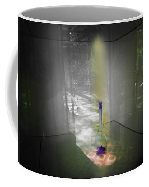 Ghost Coffee Mug featuring the digital art Jihn by Charles Stuart