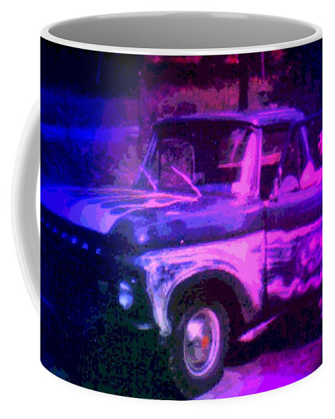 Pontiac Coffee Mug featuring the photograph Joe And The Pontiac Truck by George Pedro