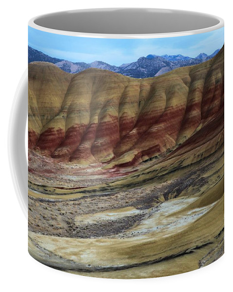 John Day Fossil Beds Coffee Mug featuring the photograph John Day Painted Hills by Adam Jewell