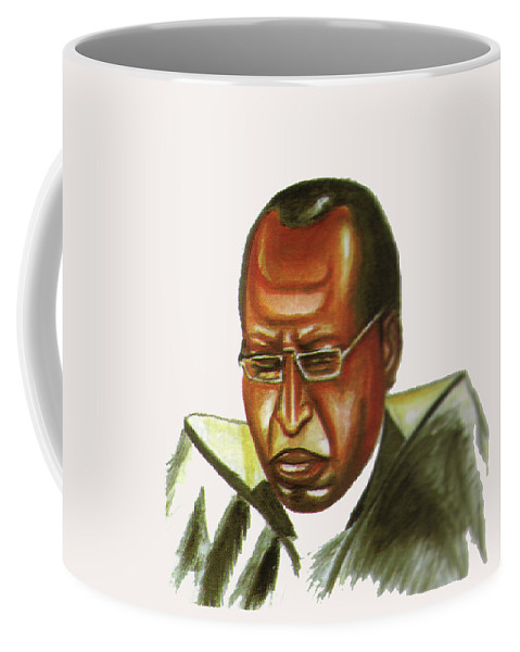 Portraits Coffee Mug featuring the painting John Gatu by Emmanuel Baliyanga
