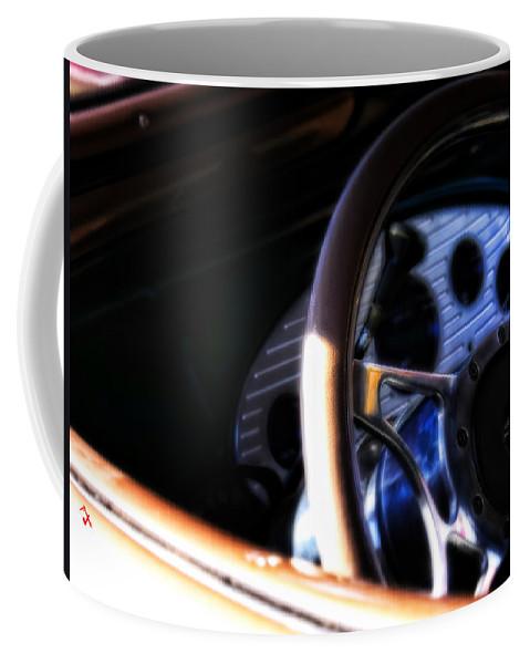 Steering Wheel Coffee Mug featuring the photograph Joy Ride by Adam Vance