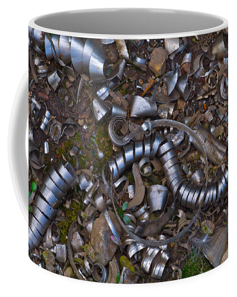 Macro Coffee Mug featuring the photograph Junkyard Macro No. 16 by Constance Sanders