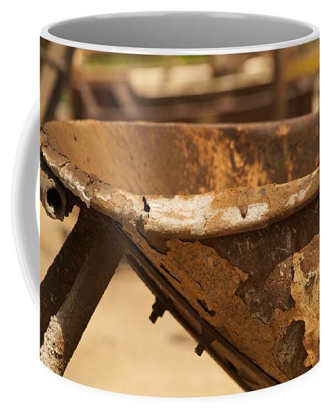 Junk Coffee Mug featuring the photograph Junkyard Macro No. 20 by Constance Sanders