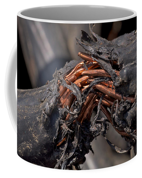 Junk Coffee Mug featuring the photograph Junkyard Macro No. 4 by Constance Sanders