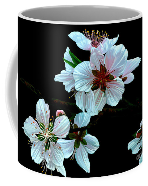Fine Art Coffee Mug featuring the painting Just Peachy by Patricia Griffin Brett