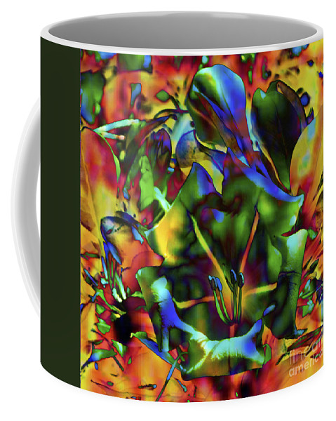 Fine Art Print Coffee Mug featuring the mixed media Kaleidoscope by Patricia Griffin Brett