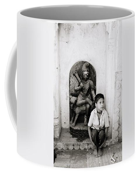 Asia Coffee Mug featuring the photograph Kali In Benares by Shaun Higson