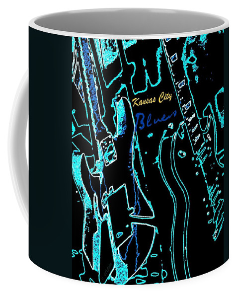 Kansas City Coffee Mug featuring the photograph Kansas City Blues by Chris Berry