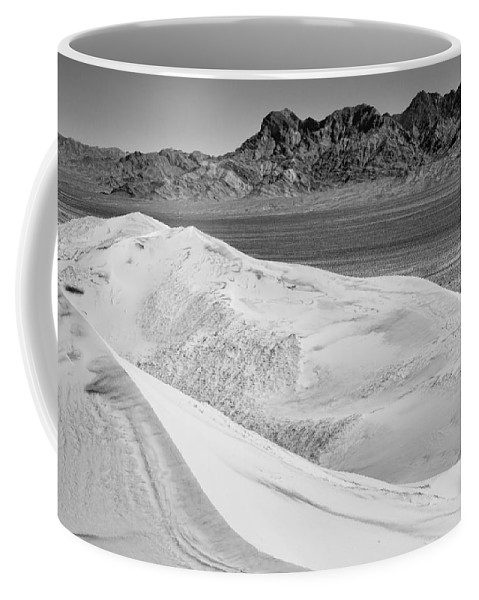 Sand Dunes Coffee Mug featuring the photograph Kelso Sand Dunes 2 Bw by Kelley King