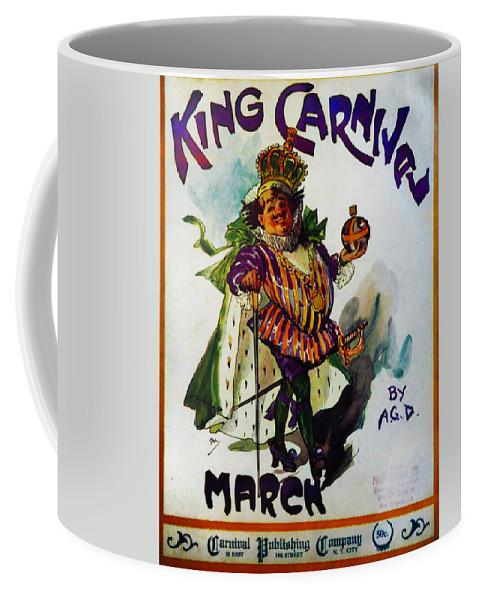 King Carnaval March - Mardi Gras Coffee Mug featuring the photograph King Carnaval March - Mardi Gras by Bill Cannon