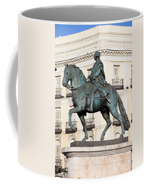 Monument Coffee Mug featuring the photograph King Charles IIi Statue In Madrid by Artur Bogacki