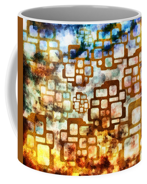 Digital Coffee Mug featuring the mixed media Knowledge Is Not Wisdom 1 by Angelina Vick