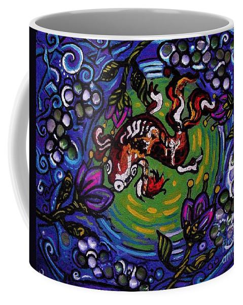 Koi Coffee Mug featuring the painting Koi Fish by Genevieve Esson