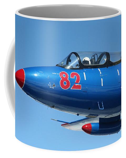 Transportation Coffee Mug featuring the photograph L-29 Delfin Standard Jet Trainer by Daniel Karlsson