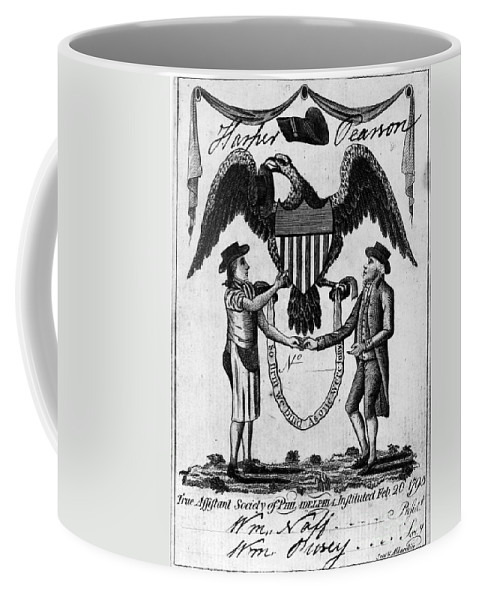 1795 Coffee Mug featuring the photograph Labor Certificate, 1795 by Granger