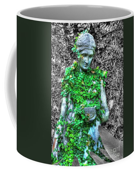 Statue Coffee Mug featuring the photograph Lady Statue by Diego Re