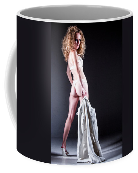 Ralf Coffee Mug featuring the photograph Lady With A Coat by Ralf Kaiser