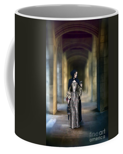 Lady Coffee Mug featuring the photograph Lady With Bird by Jill Battaglia