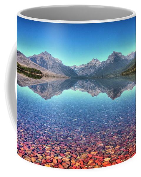 Landscape Coffee Mug featuring the photograph Lake Mcdonald by Rick Ulmer