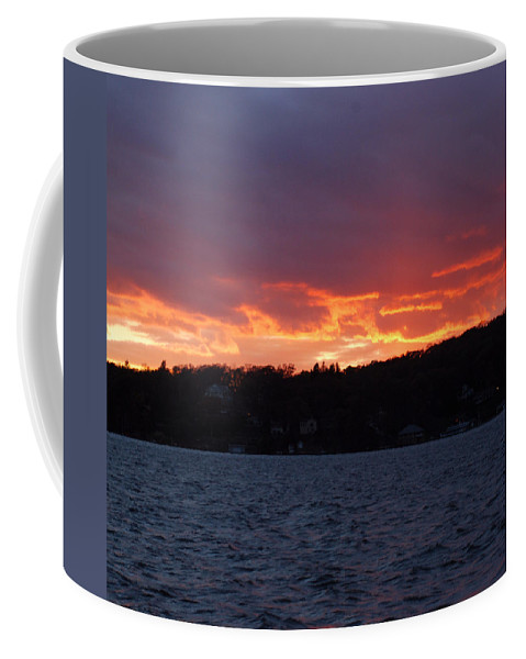 Water Coffee Mug featuring the photograph Lake Sunset by Richard Bryce and Family