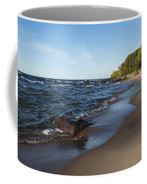 Union Coffee Mug featuring the photograph Lake Superior Union Bay 3 by John Brueske