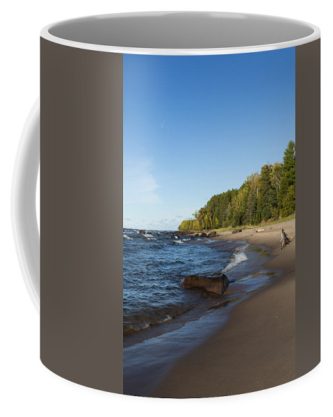 Union Coffee Mug featuring the photograph Lake Superior Union Bay 4 by John Brueske