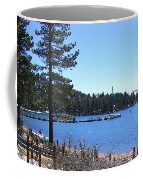 Lake Tahoe Coffee Mug featuring the photograph Lake Tahoe Dock by Will Borden
