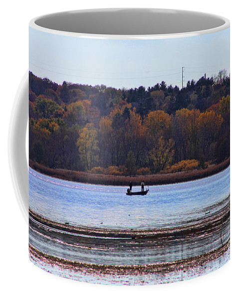 Lake Wingra Coffee Mug featuring the photograph Lake Wingra Fishing by Tommy Anderson