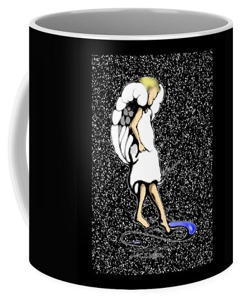 Stars Coffee Mug featuring the digital art A Lamp Unto My Feet by C F Legette