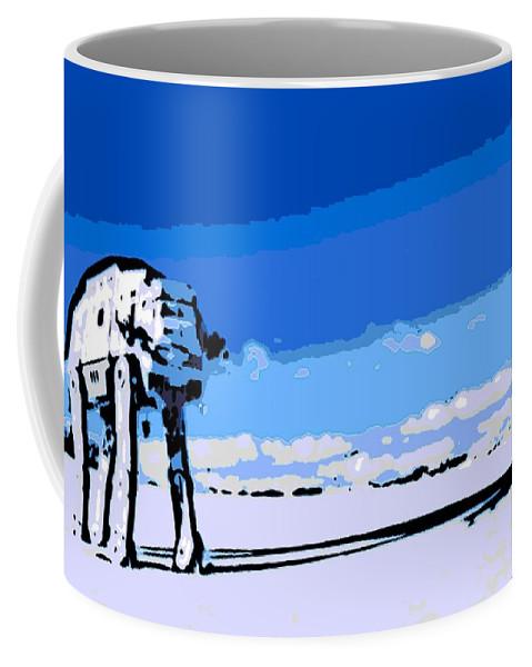 Land Battle Coffee Mug featuring the digital art Land Battle 2 by George Pedro
