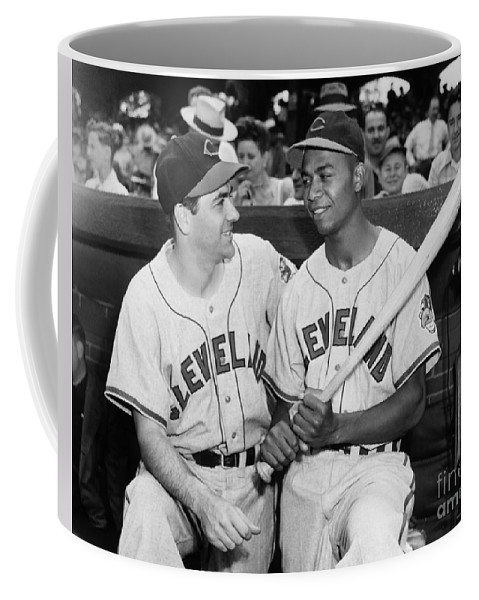 1947 Coffee Mug featuring the photograph Larry Doby (1923-2003) by Granger