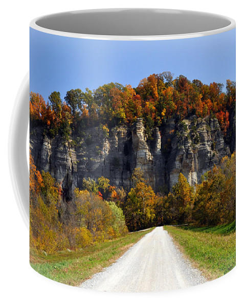 Landscape Coffee Mug featuring the photograph Larue Bluffs 1 by Marty Koch