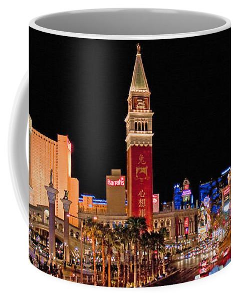 Nevada Coffee Mug featuring the photograph Las Vegas Canvas Panorama by Jim Chamberlain