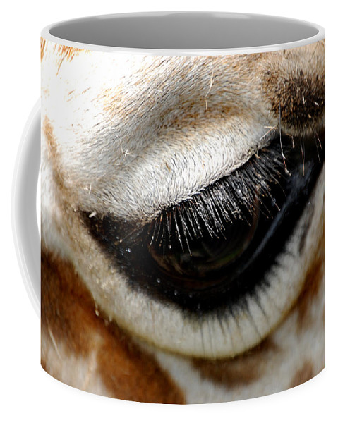 Eye Coffee Mug featuring the photograph Lashes On The Eye by Skip Willits
