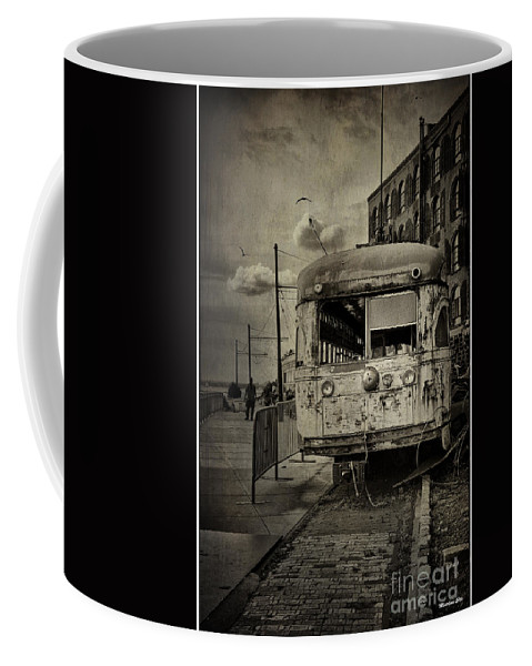 Bus Coffee Mug featuring the photograph Last Stop by Madeline Ellis