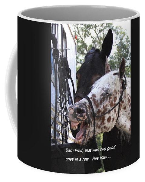 Horse Coffee Mug featuring the photograph Laughing Horse by Travis Truelove