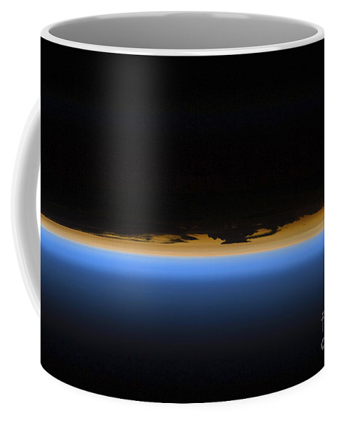 Sts-127 Coffee Mug featuring the photograph Layers Of Earths Atmosphere by Stocktrek Images