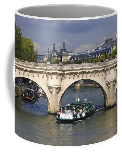 Paris Coffee Mug featuring the photograph Le Pont Neuf . Paris. by Bernard Jaubert