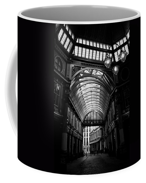 Leadenhall Coffee Mug featuring the photograph Leadenhall Market Black And White by David Pyatt