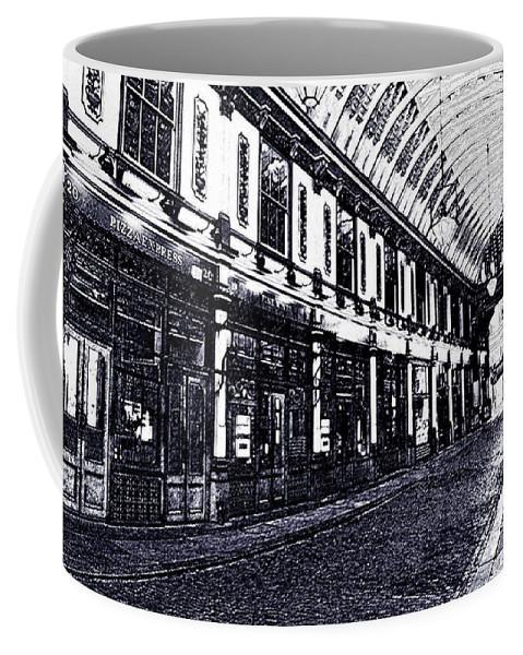Leadenhall Coffee Mug featuring the digital art Leadenhall Market by David Pyatt
