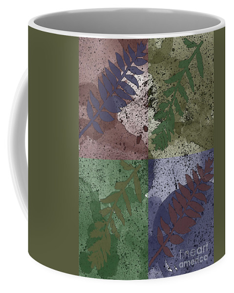 Nature Coffee Mug featuring the digital art Leaf Boxes by Debbie Portwood