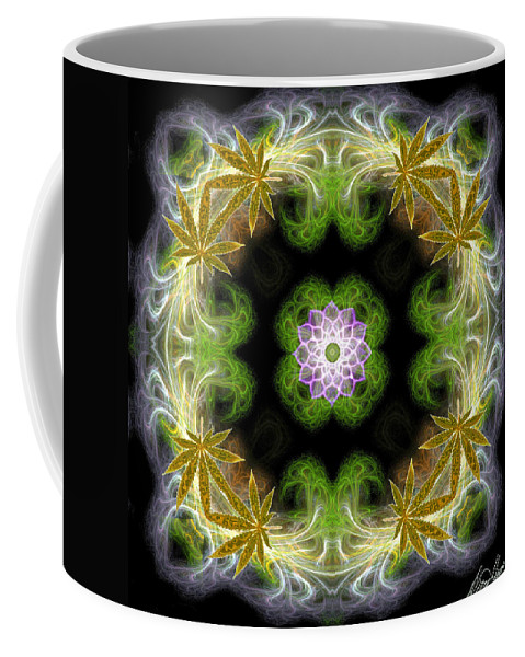 Leaves Coffee Mug featuring the digital art Leaves Of Gold by Diana Haronis