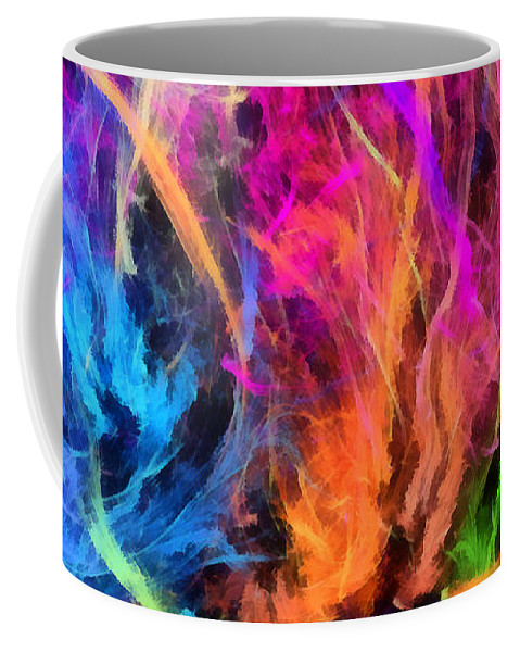 Abstract Coffee Mug featuring the digital art Liberty by RochVanh