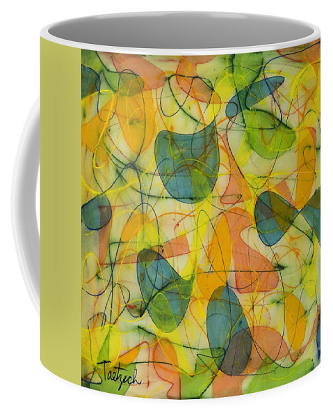 Abstract Coffee Mug featuring the painting Lighten Up by Lynne Taetzsch